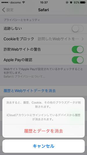 iPhoneのSafari履歴9