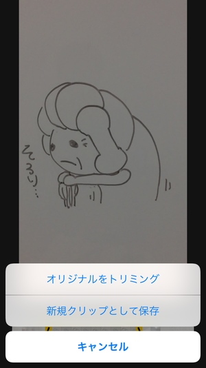 iPhone動画トリミング6