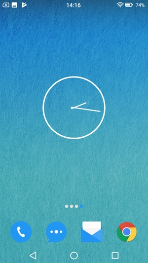 Androidウィジェット設定3